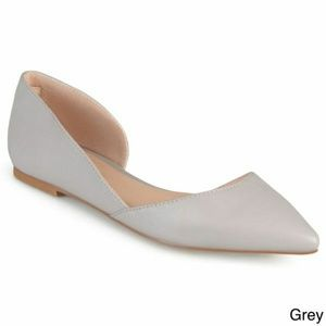 Journee Collection Cortni Pointed Toe Cutout Flats